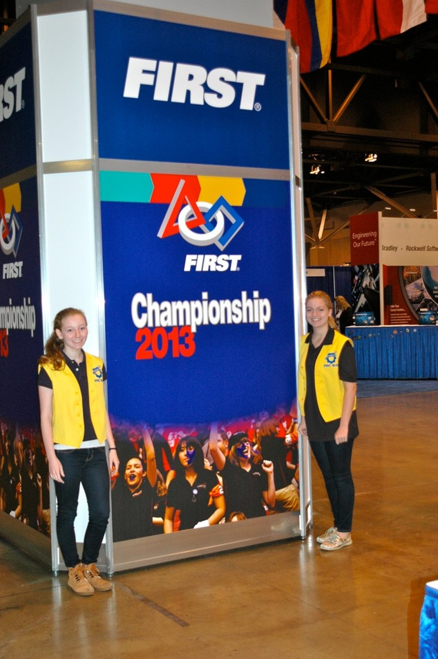 Hannah Tipperman and Rachael Tipperman at the 2013 First Robotics Challenge Championship in St. Louis