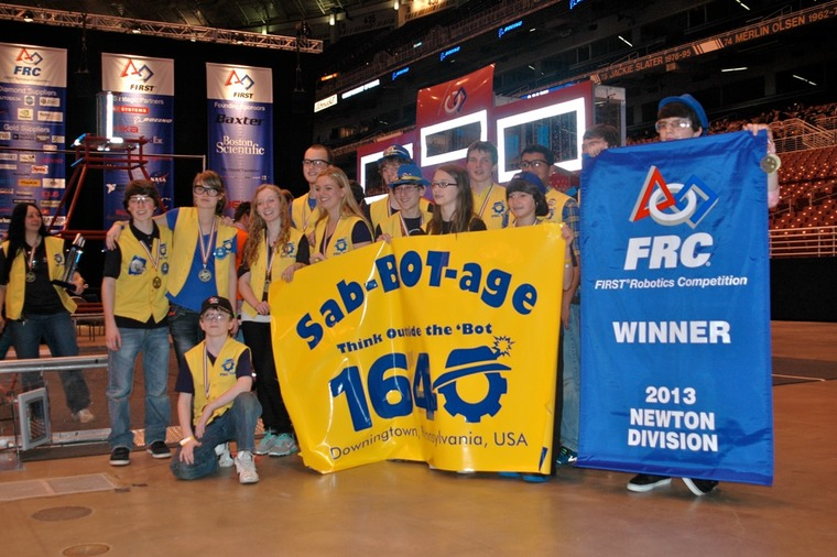 Hannah Tipperman and Rachael Tipperman FRC First Robotics World Championship Newton Division Champions 2013